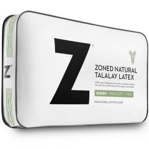 Malouf ® 100% Natural Zoned Talalay Latex Pillow (Low Loft Plush)